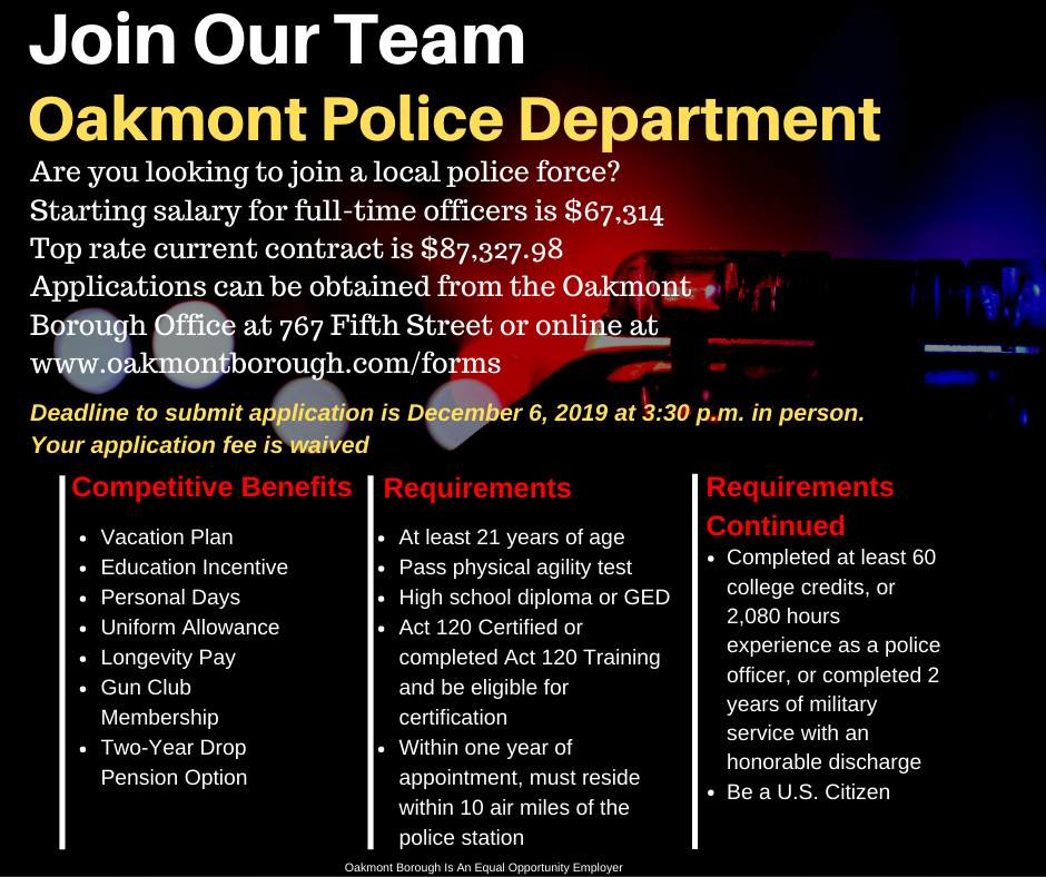 Oakmont Police Department